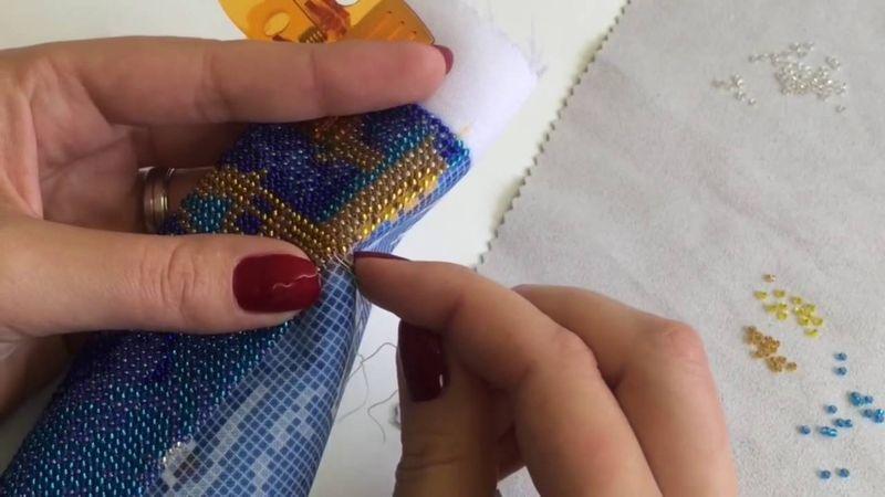Як правильно вишивати бісером  лінійна вишивка бісером  7eb8d8f77af72